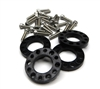 Gear Head RC 6-Lug Hub Spacer Kit, 4-40 Screws (4)