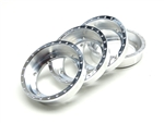 "Gear Head RC Replacement 2.2"" EZ-Loc Beadlock Rings, Aluminum (4)"
