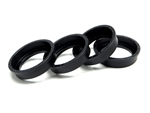 Gear Head RC Replacement 2.2 EZ-Loc Beadlock Rings, Black Delrin (4)