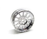 Gear Head RC M-12 Micro Crawler Wheels, Silver (4)