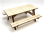 Gear Head RC 1/10 Scale Wood Picnic Table Kit
