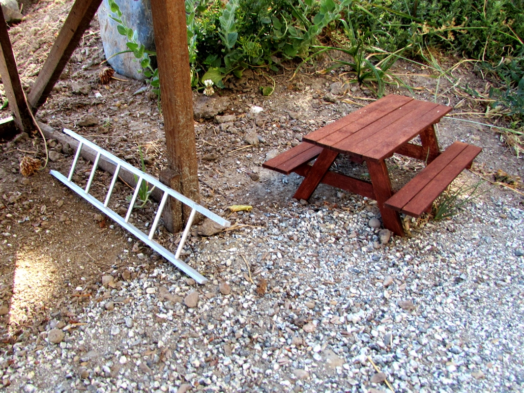 Gear Head RC Scale Wood Picnic Table Kit - 8 ft picnic table kits