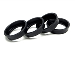 Gear Head RC Replacement 1.9 EZ-Loc Beadlock Rings, Black Delrin (4)