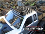Gear Head RC 1/10 Scale Honcho Slim Line Roof Rack with Light Bar Mount