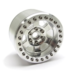"Gear Head RC 2.2"" BTR TT Beadlock Wheels with Silver Rings (4)"