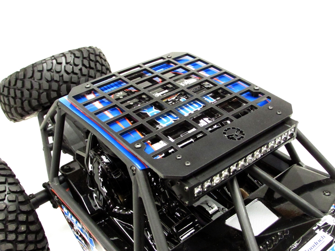 Gear head rc 110 scale bomber slim line roof rack with light bar mount mozeypictures Images