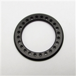 "Gear Head RC 1.55"" Aluminum Beadlock Rings - Anodized Black (2)"