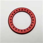 Gear Head RC 1.55 Aluminum Beadlock Rings - Anodized Red (2)