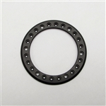Gear Head RC 1.9 Aluminum Beadlock Rings - Anodized Black (2)