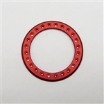 Gear Head RC 1.9 Aluminum Beadlock Rings - Anodized Red (2)