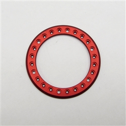 "Gear Head RC 1.9"" Aluminum Beadlock Rings - Anodized Red (2)"