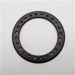 "Gear Head RC 2.2"" Aluminum Beadlock Rings - Anodized Black (2)"