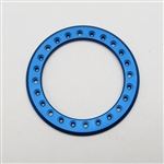 Gear Head RC 2.2 Aluminum Beadlock Rings - Anodized Blue (2)