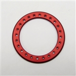 "Gear Head RC 2.2"" Aluminum Beadlock Rings - Anodized Red (2)"