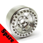 "Gear Head RC 1.9"" BTR TT Beadlock Wheel - Silver Ring (1) Spare"