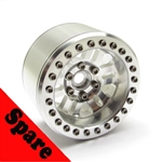 "Gear Head RC 2.2"" RubiComp Wheel with Silver Ring (1) Spare"