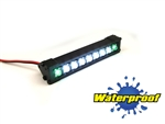 "Gear Head RC 1/10 Scale Terra Torch 3"" LED Light Bar - White and Green"