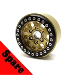 Gear Head RC 1.9 Tombstone Beadlock Wheel, Gold (1) Spare