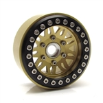 "Gear Head RC 1.9"" Vegas Beadlock Wheels, Gold (4)"