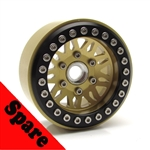 "Gear Head RC 1.9"" Vegas Beadlock Wheel, Gold (1) Spare"