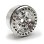 "Gear Head RC 1.9"" Tombstone Beadlock Wheels, Silver/Silver (4)"
