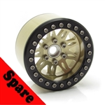 "Gear Head RC 2.2"" Vegas Beadlock Wheel, Champagne (1) Spare"