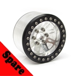 "Gear Head RC 2.2"" Vegas Beadlock Wheel, Silver (1) Spare"