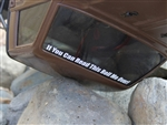 "Gear Head RC ""If You Can Read This Roll Me Over"" Curved Windshield Banner"