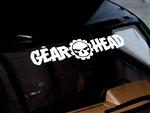 Gear Head RC Logo Curved Windshield Banner