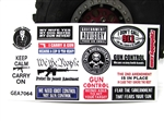 Gun Control Sticker Sheet