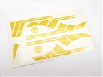 Gear Head RC 1/10 Scale TOY Vinyl Graphics Kit - Yellow