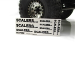 SCALERS MAGAZINE Clear Sticker Sheet