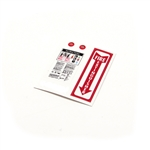 1/10 Scale Fire Extinguisher Sticker Sheet
