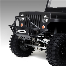 Gmade GS01 Front Tube Bumper with Skid Plate Black