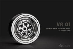Gmade 1.9 VR01 beadlock wheels (Chrome) (2)