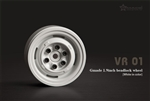Gmade 1.9 VR01 beadlock wheels (White) (2)