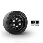 "Gmade 1.9"" NR01 Beadlock Wheels (Black) (2)"