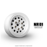 "Gmade 1.9"" NR01 Beadlock Wheels (White) (2)"