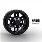 "Gmade NR02 1.9"" BEADLOCK WHEELS BLACK (2)"