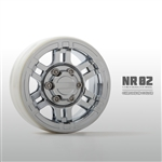 "Gmade NR02 1.9"" BEADLOCK WHEELS Chrome (2)"