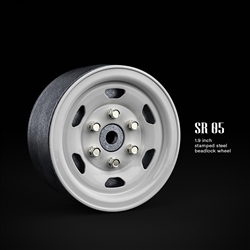 Gmade 1.9 SR05 Beadlock Wheels (Gloss White) (2)