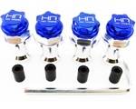 Hot Racing Blue 17mm Clod Wheel Adapters