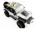 Hot Racing Jeep 4/Dr Soft Top Camoflauge Rods For Axial SCX Jeep