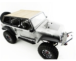 Hot Racing Jeep 4/Dr Soft Top TAN Rods For Axial SCX Jeep