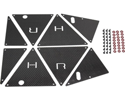 Hot Racing Carbon Fiber Tube Chassis Side Inner Panels Traxxas Unlimited Desert Racer UDR