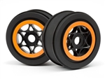 HPI Racing WHEEL BLACK/ORANGE (42x83mm/2pcs)  AH-64
