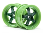 HPI Racing Work Meister S1 Wheel Green 3mm Offset (2)