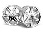 HPI Racing LP29 Wheel WORK LS406 Chrome 29mm (2) 3mm Offset