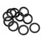 HPI O-RING P10 (10x2mm/BLACK/10pcs):Baja5B,5T,2.0