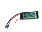 Helios RC 2000mAh 2S 7.4V 50C LiPo Battery - EC3